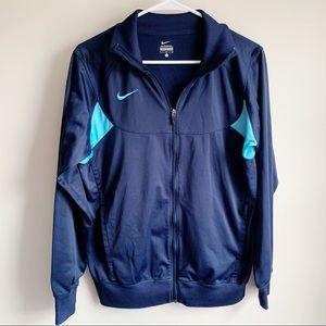 Nike Blue Track Jacket Active Athletic Zip Up